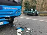 Incidente frontale sulla Sp29 Savona-Cadibona