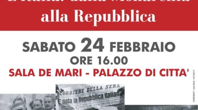 """Incontro """"L'Italia: dalla Monarchia alla Repubblica"""""""