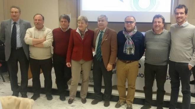 La giunta della Fipav Liguria che accoglierà domenica il presidente nazionale Cattaneo a Genova