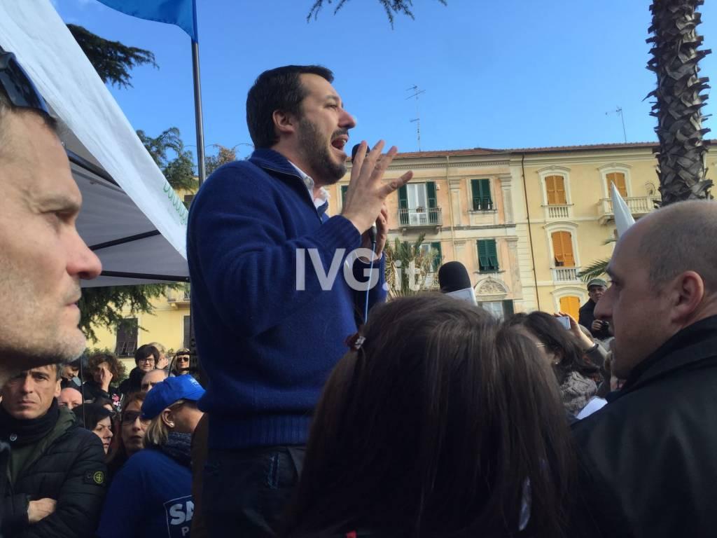 Matteo Salvini in visita ad Albenga
