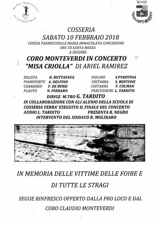 Misa Criolla Ariel Ramirez Giorno del Ricordo