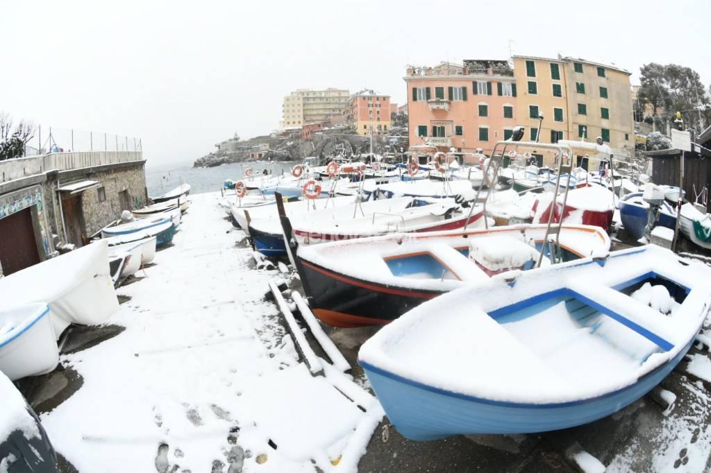 Nevicata del 28 febbraio: il Levante imbiancato
