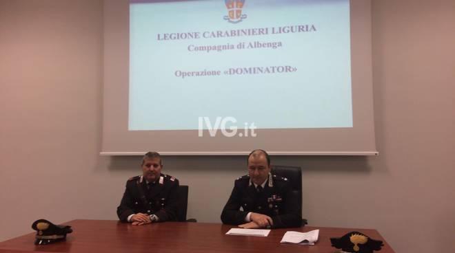 Operazione Dominator, la conferenza stampa dei carabinieri