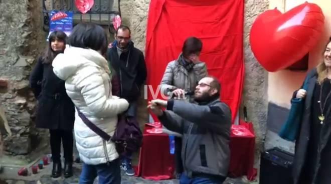 San Valentino Fabio e Valentina proposta matrimonio Albissola Marina