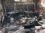 Savona, a fuoco i mezzi della Edilnuovo