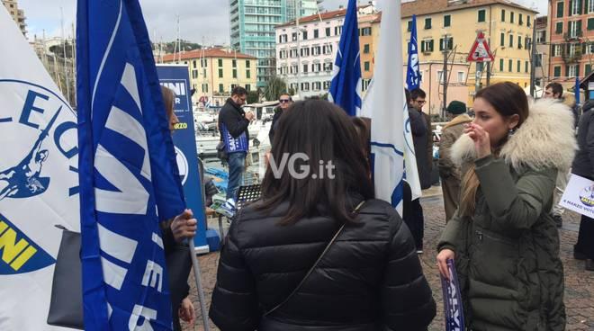 Tappa savonese per il segretario della Lega Matteo Salvini