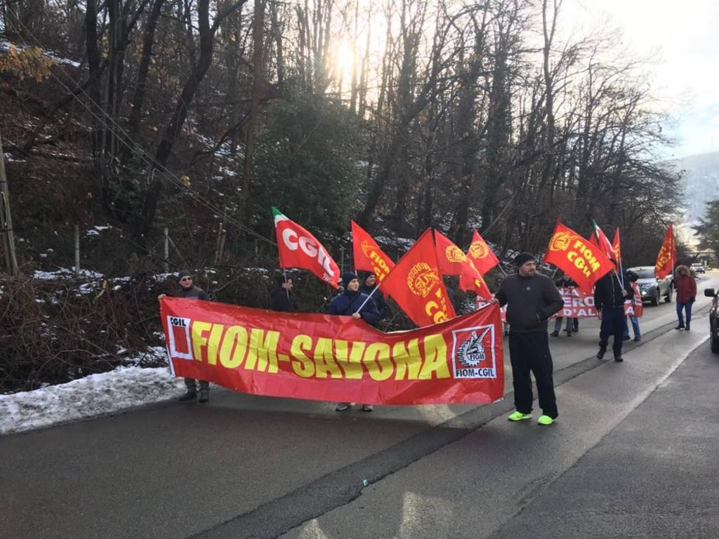 Asset Altare, lo sciopero dei lavoratori
