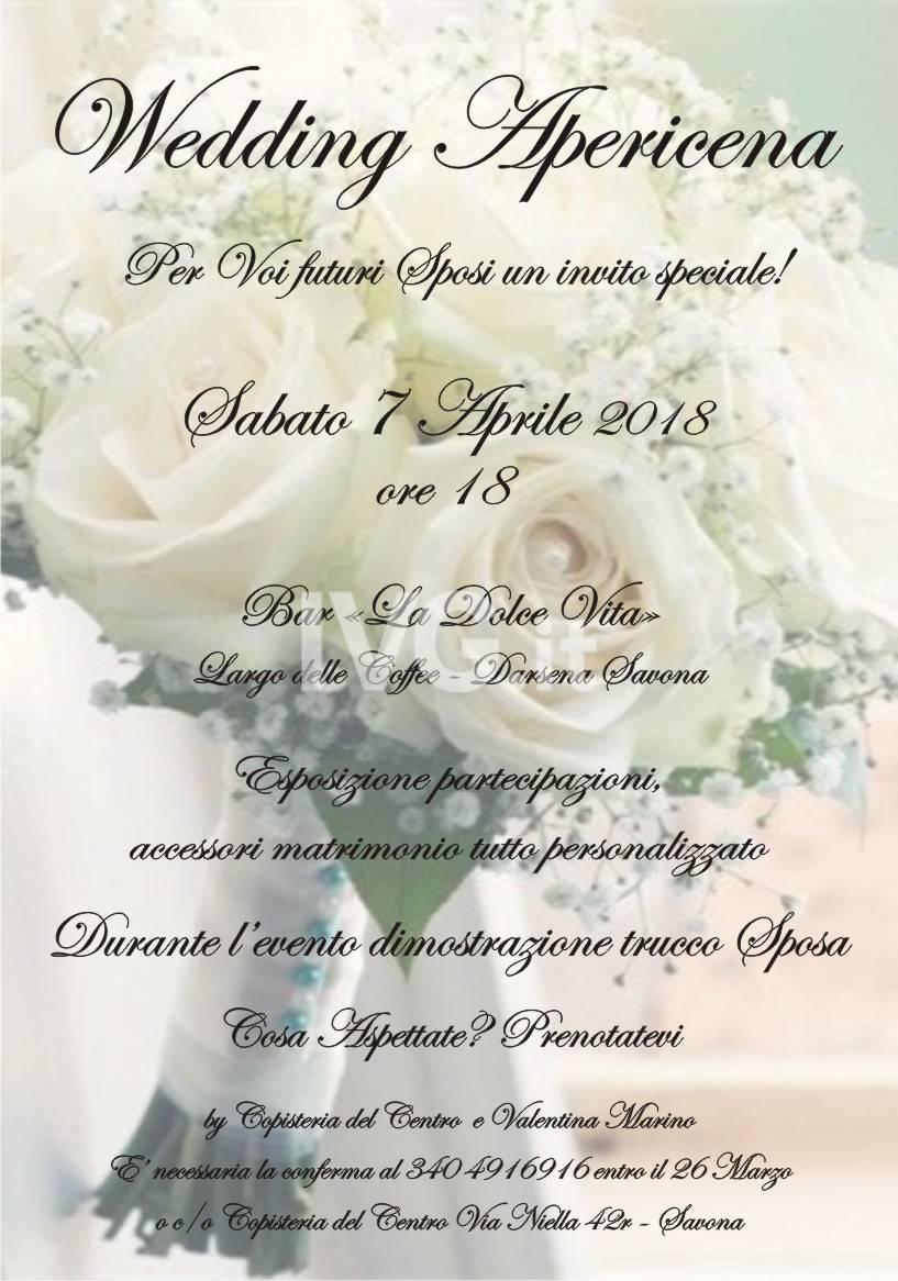Wedding apericena