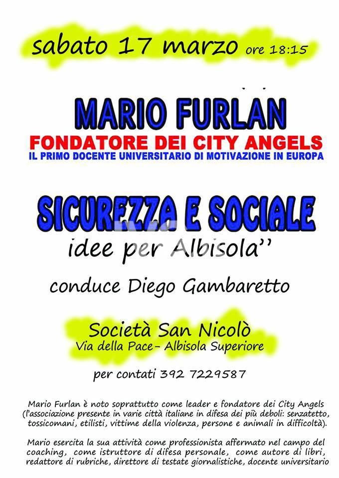 Idee per Albisola: sicurezza e sociale con Mario Furlan