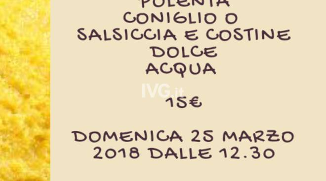 """Domani alla SMS La Rocca \""""Polentata alla Rocca\"""""""