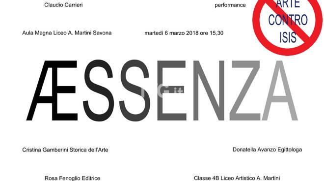AEssenza, Arte contro ISIS, martedì 6 marzo ore 15,30 Aula Magna liceo Artistico Savona