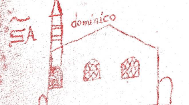 Chiesa San Domenico - disegno a penna Giovanni Agostino Abate