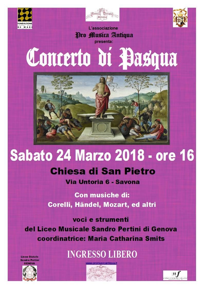 """Concerto di Pasqua allievi Liceo """"Pertini"""" Genova"""