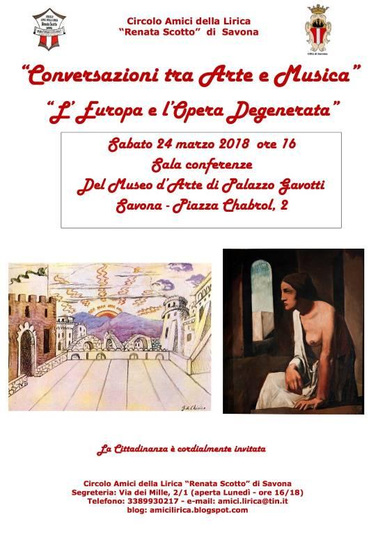 Conferenza L'Europa e l'Opera 'degenerata