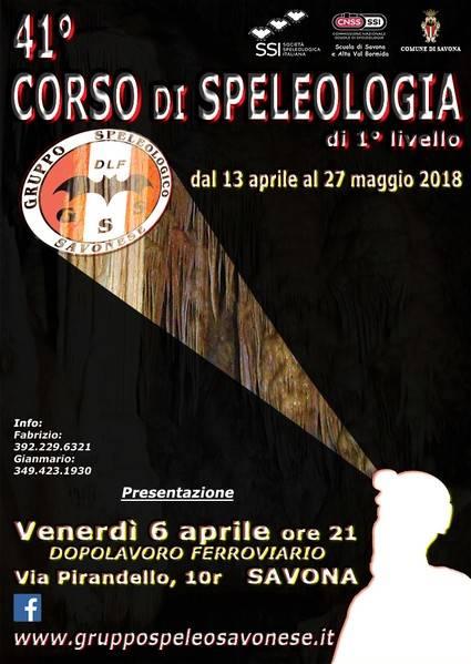 Corso Speleologia Gruppo Speleologico Savonese 2018