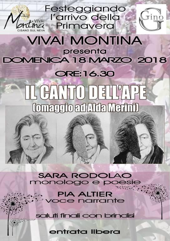 Il Canto dell'Ape monologo omaggio Alda Merini