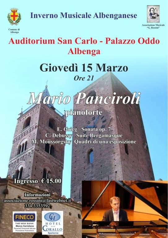 Mario Panciroli pianista concerto Albenga