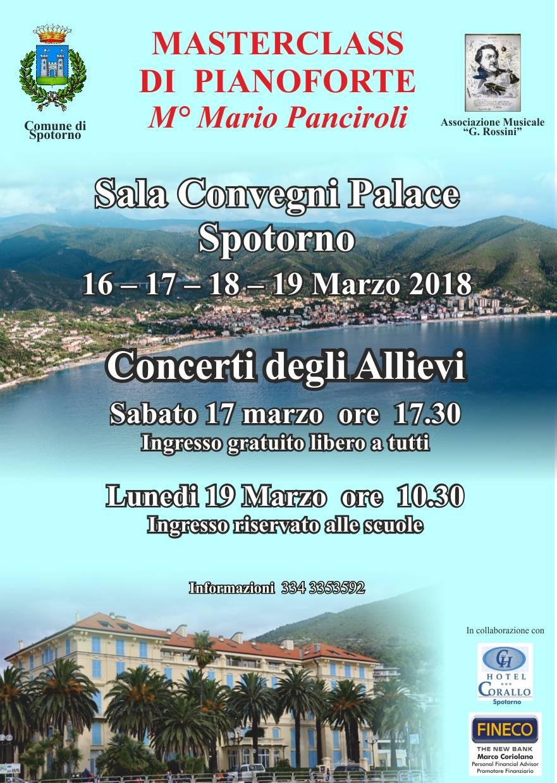 Master Class Pianoforte Mario Panciroli