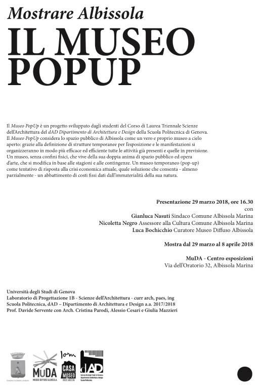 """""""Mostrare Albissola - Il Museo PopUp"""""""