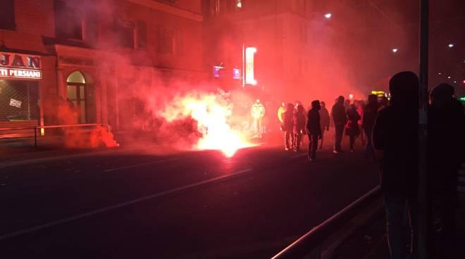 Presidio antifascista per Di Stefano (Casa Pound) a Genova
