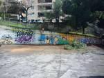 pulizia piazzale scuola Gramsci via Boeddu