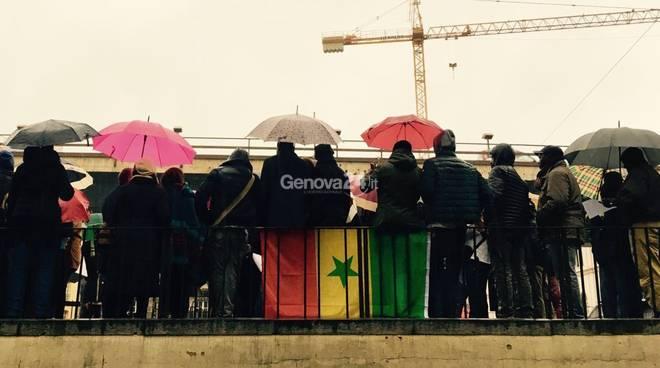 Senegalesi in piazza 10 marzo contro la violenza