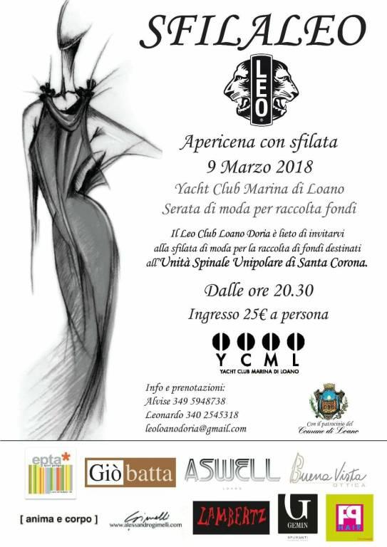Sfilaleo serata beneficenza Leo Club Loano Doria