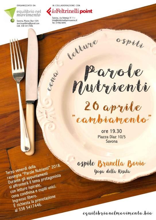 """Brunella Bovio Yoga della Risata """"Parole Nutrienti"""""""