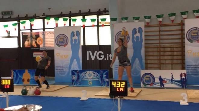 Alice Colella seconda al campionato Italiano di maratona con il kettlebell