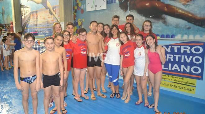 I risultati della quinta tappa regionale  di nuoto CSI a La Spezia