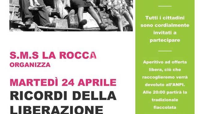 Martedì sera alla SMS La Rocca di Savona, prima della fiaccolata: Ricordi della Liberazione