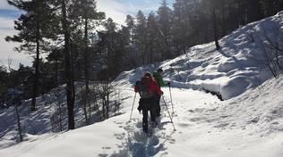 ciaspole beigua meve monti mare turismo invernale