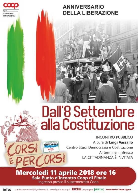 """Conferenza """"Dall'8 settembre alla Costituzione"""""""