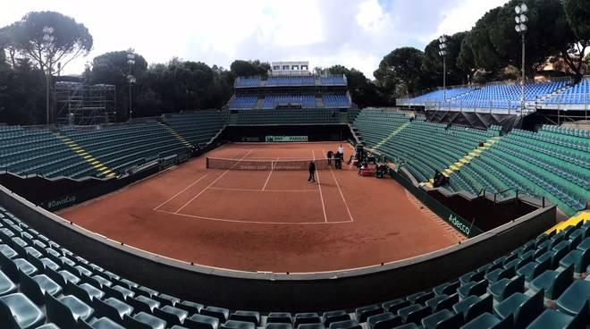 Coppa Davis allenamenti