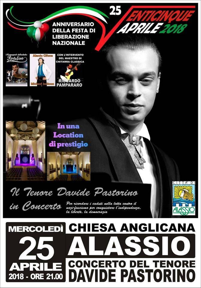 Tenore Davide Pastorino concerto ex Chiesa Anglicana Alassio