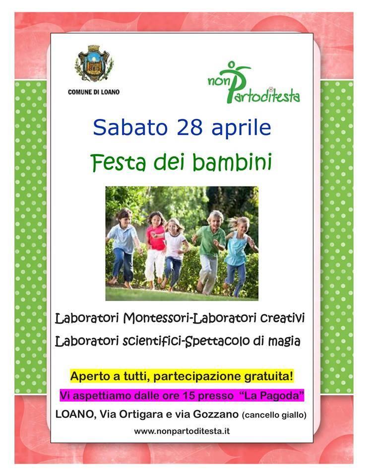 """Festa dei Bambini alla """"pagoda"""" di Loano"""