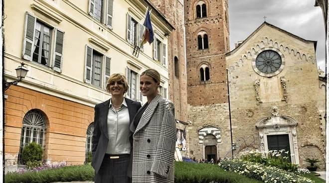 Hunziker e Bongiorno visita Albenga