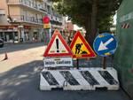 Lavori di rifacimento in via Gramsci ad Albenga