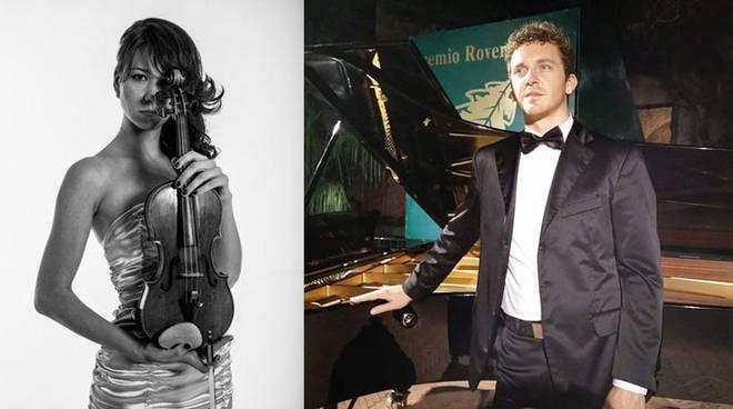 Olesya Rusina Leonardo Ferretti contrast duo