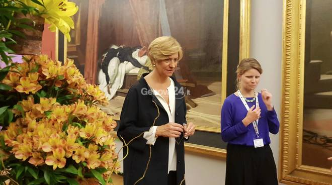 Roberta Pinotti visita Euroflora