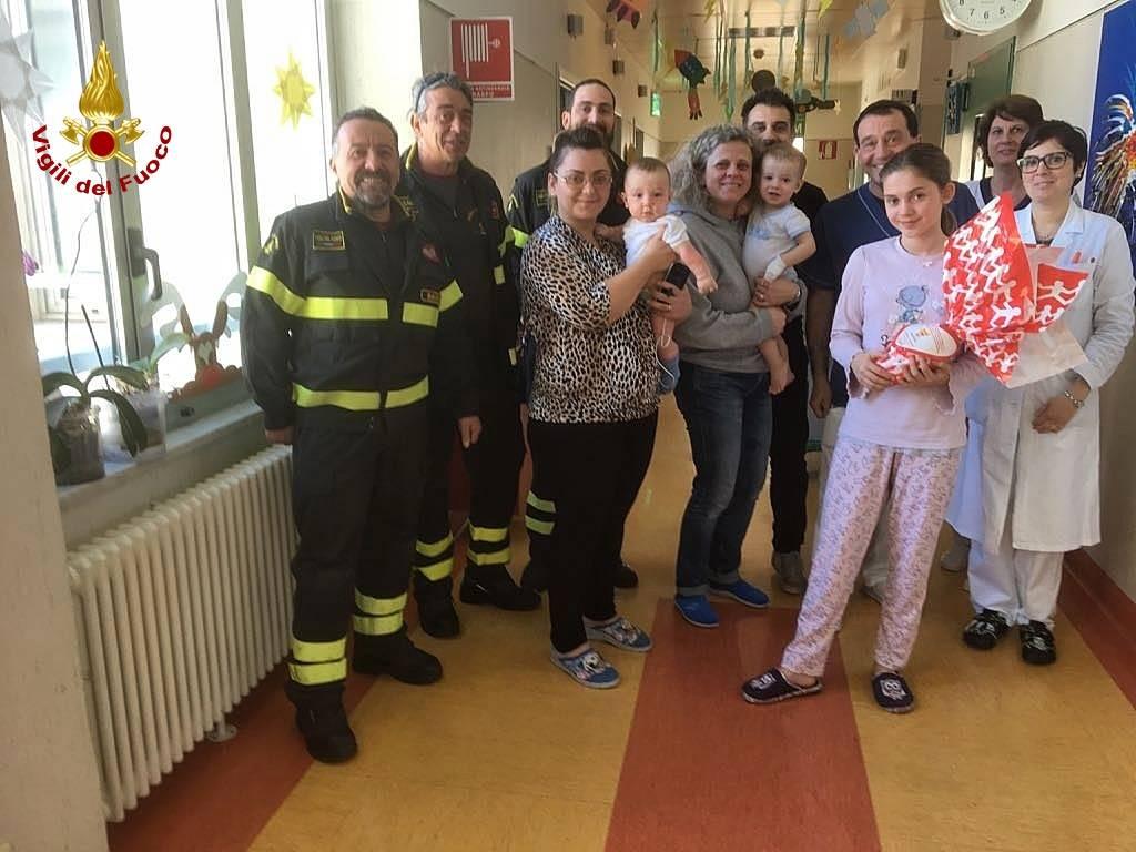 vigili del fuoco pediatria