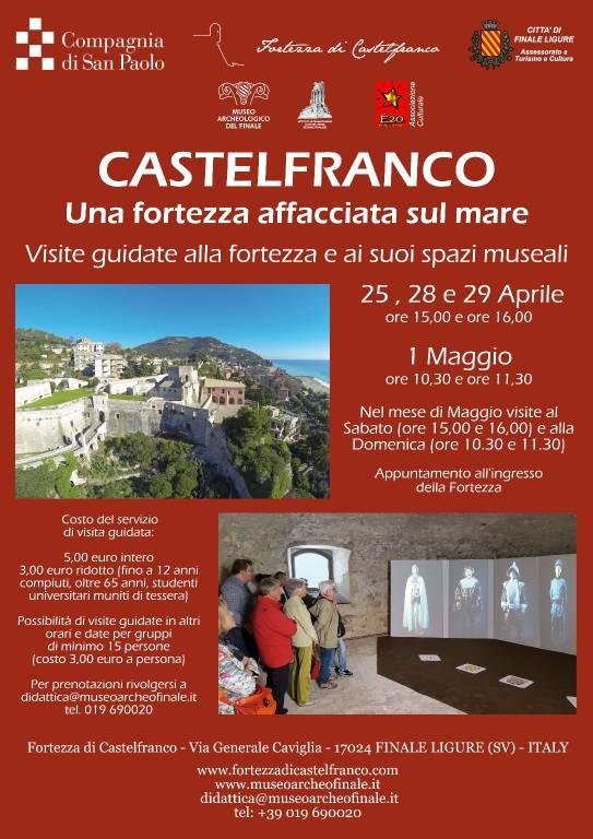 Visite guidate Fortezza di Castelfranco aprile - maggio 2018