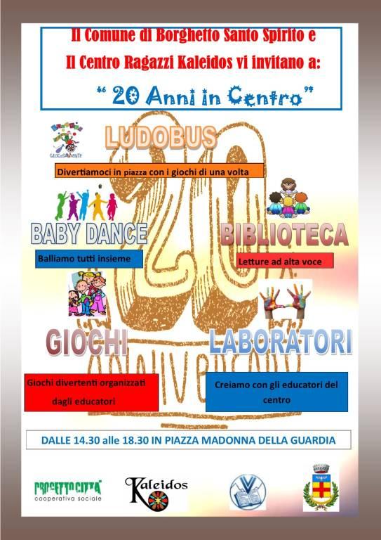 """""""20 anni in centro"""" 2018 Centro Ragazzi Kaleidos"""