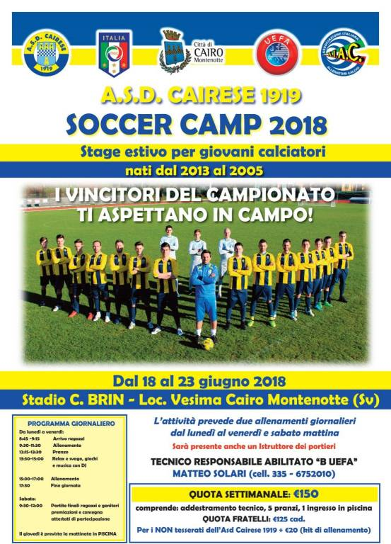 Cairese Soccer Camp
