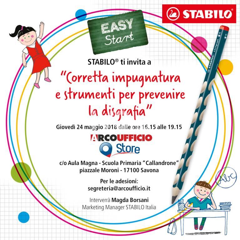 """STABILO® invita le insegnanti delle scuole dell'infanzia e delle primarie di Savona al seminario """"Corretta impugnatura e strumenti per prevenire la disgrafia"""""""