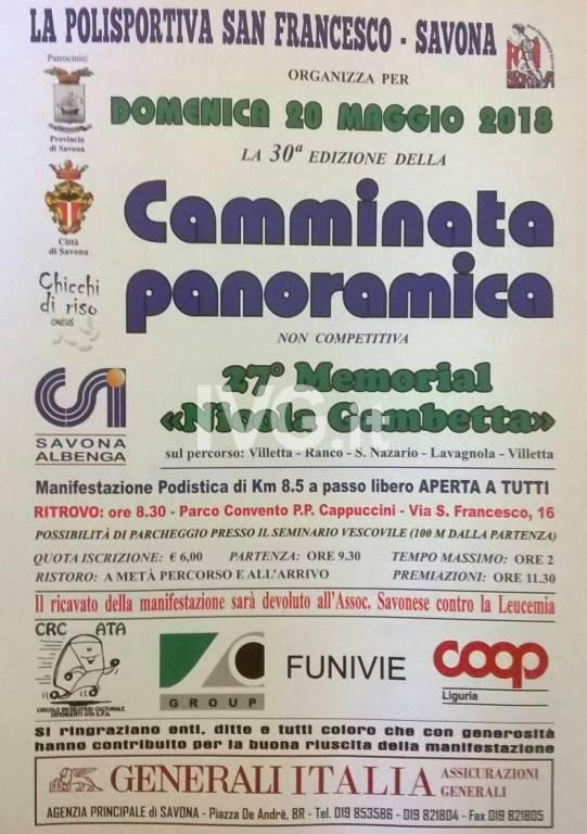 30 Camminata Panoramica - 27 Memorial Nicola Gambetta