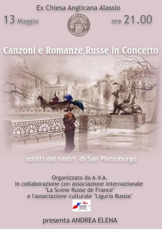 Concerto canzoni e romanze russe Alassio