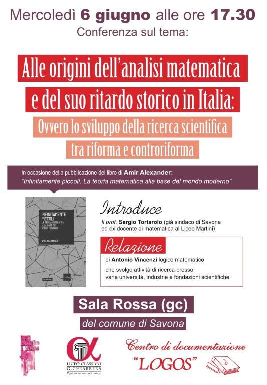 """Conferenza """"Alle origini dell'analisi matematica"""""""
