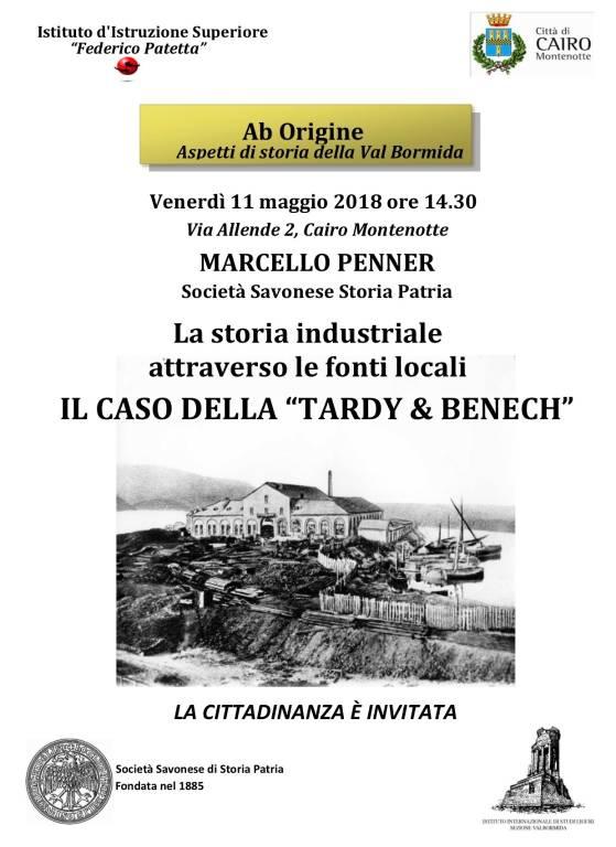 Conferenza fabbrica Tardy e Benech Cairo Montenotte