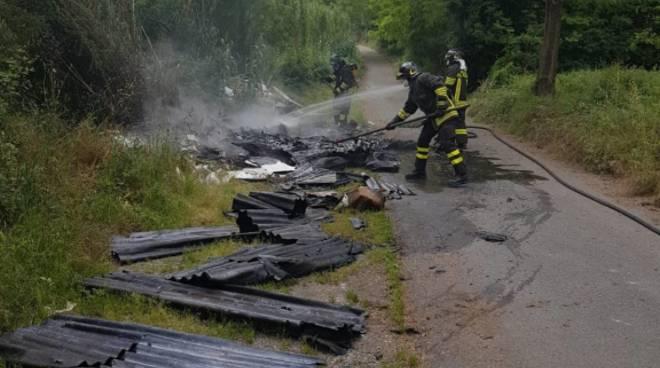 discarica vigili del fuoco